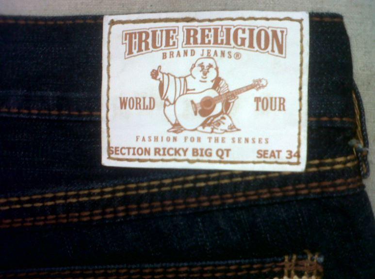 78c96f78d Shorten hems with original True Religion signature thick cotton stitching  retained